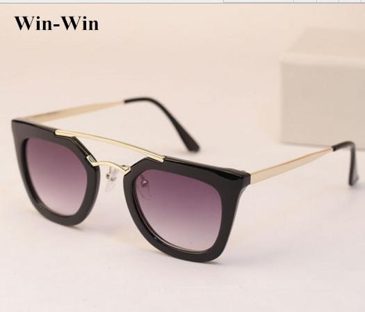 2016 Vintage Half Metal frame Sunglasses Women Brand New ...