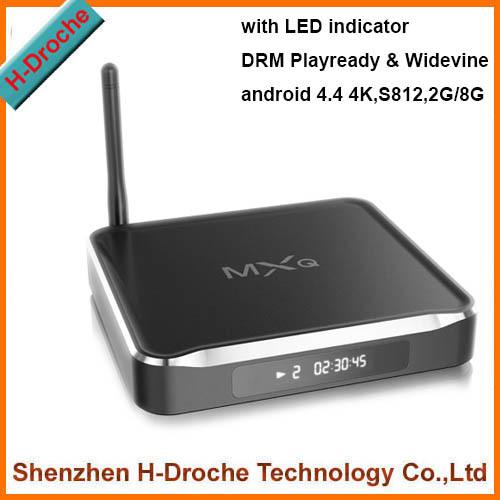 2015 New update MXQ TV BOX MX Amlogic S812 Quad Core IP TV Android 4.4 TV box Kitkat 4K 2GB/8GB XBMC Load WIFI Airplay Miracast(China (Mainland))