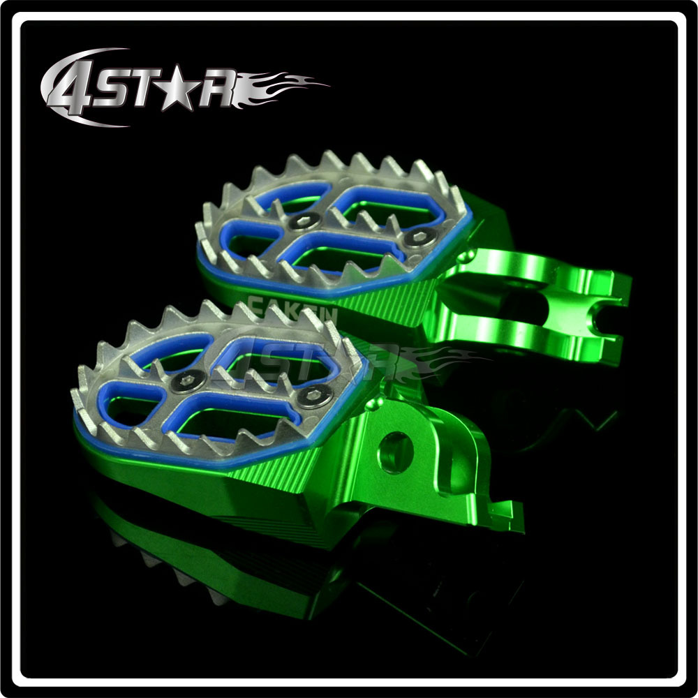 Billet CNC Foot Pegs Pedals Rests Fit KX250F KX450F KLX450 Dirt Bike Motocross Motorcycle Parts Free Shipping<br><br>Aliexpress