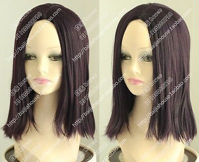 Wholesale price Hot Sell TSC^^^^Fashion Wig Mixed Color Fleet collection Cosplay Wig Dark Purple Short Hair Wig<br><br>Aliexpress