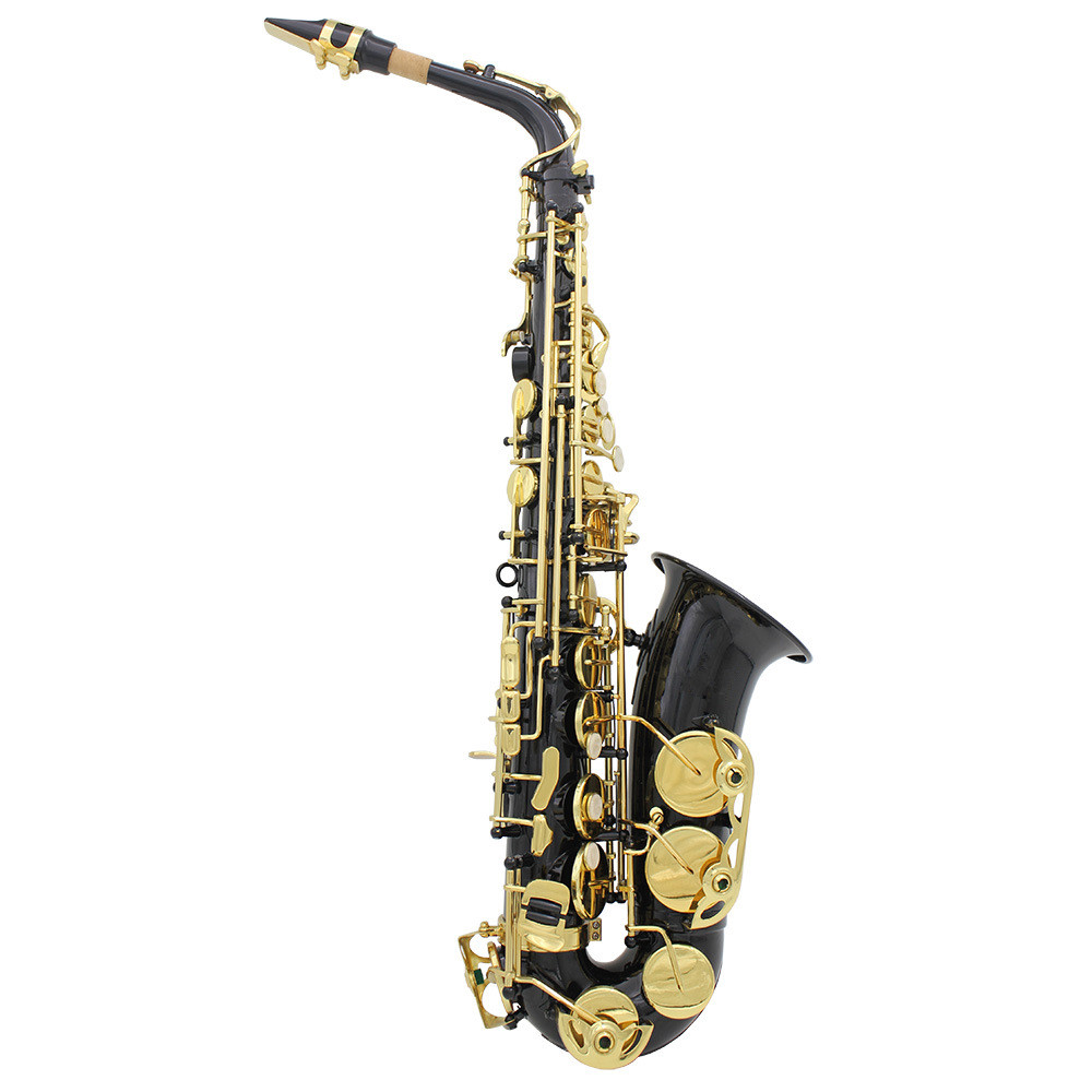 DHL,UPS,EMS , Free Shipping New High Quality Selmer / 54 E Alto Saxophone Instrument mat black With Factory Direct  leather Case