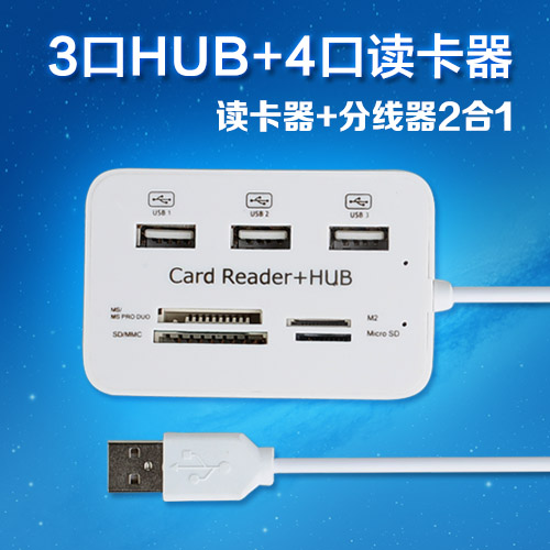 High speed multifunctional universal mini card reader for mini usb flash drive sd micro tf card ms card(China (Mainland))