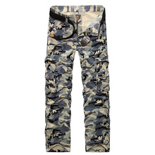 2017 New Spring Military Cargo Pants Men Brand Casual Cotton Multi Pocket Pants Male Fashion Camouflage Trousers Loose Pants(China (Mainland))