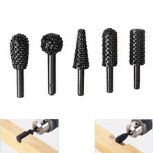 5pcs hss Power Tools Woodworking rasp chisel shaped rotating embossed grinding head power tool engraving pattern cutter milling(China (Mainland))