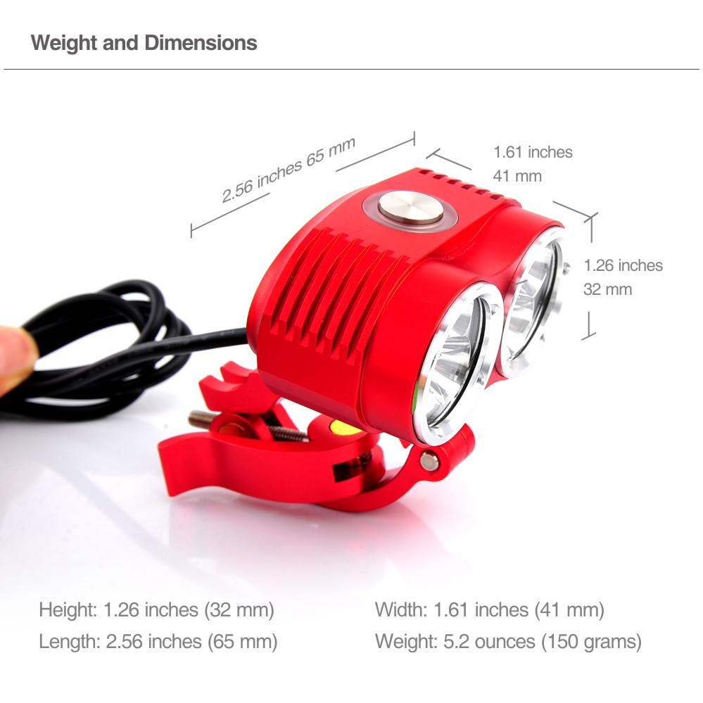Waterproof 10000 Lumen Cree T6 LED Cycling Bicycle Bike Light Lamp HeadLight Headlamp + 10800mAh Battery Pack + Charger(China (Mainland))