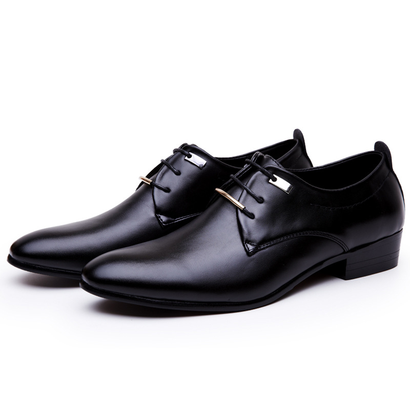 mens oxford shoes retro 2016 men formal shoes leather pointed toe flats italian designer lace up footwear black brown(China (Mainland))