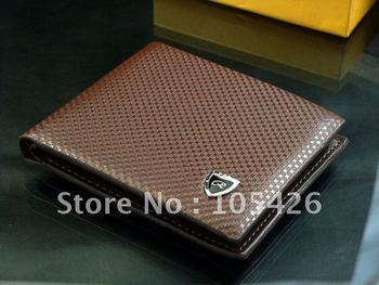 Free shipping2012 new stylish Men wallet+ genuine cow Leather +Pockets RFID Card Clutch Cente Bifold Purse