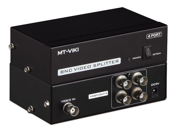 4-Way BNC Coaxial TV CCTV DVR Composite Video 1 to 4 Ports BNC Coax Distribution Amplifier CCTV DVR Switch Splitter Box(China (Mainland))