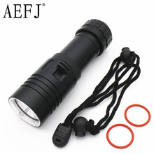 Buy 6000Lm XM-L2 Waterproof Diving Flashlight Dive Underwater 80 Meter LED Torch Lamp Light Camping Lanterna use 26650 18650 Battery for $13.92 in AliExpress store