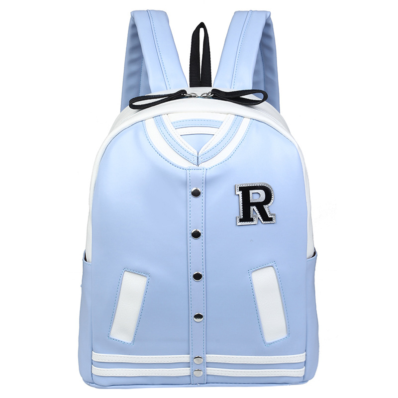 New 2016 Fashion Women Backpack Baseball Clothes Female PU Leather Rucksack Preppy Style coat shape School Bag for Young Girls(China (Mainland))