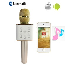 Buy 2016 NEW mini bluetooth speaker microphone wireless microphone Q7 Mic Speaker KTV super bass portable speaker for $21.22 in AliExpress store