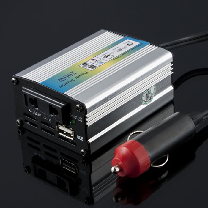 1pcs 12V for DC to AC 220V Adapter Car Auto Power Inverter Converter Adaptor 200W USB Big Sale(China (Mainland))