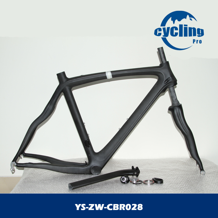 Carbon road bike frame with fork, seat post, seat post clamp and headset(China (Mainland))
