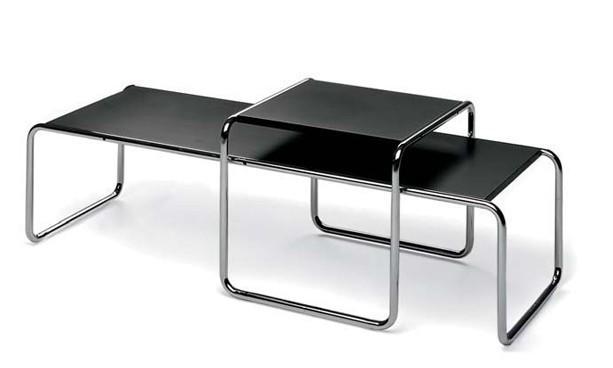 designer marcel breuer laccio set de table en acier. Black Bedroom Furniture Sets. Home Design Ideas