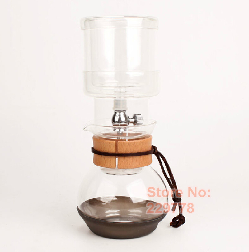Drip Coffee Maker Stand : 2 cups Dutch coffee pot Water/Ice drip coffee maker with WOOD stand Ice coffee factory directly ...