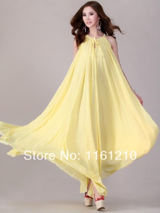A line summer dresses maxi