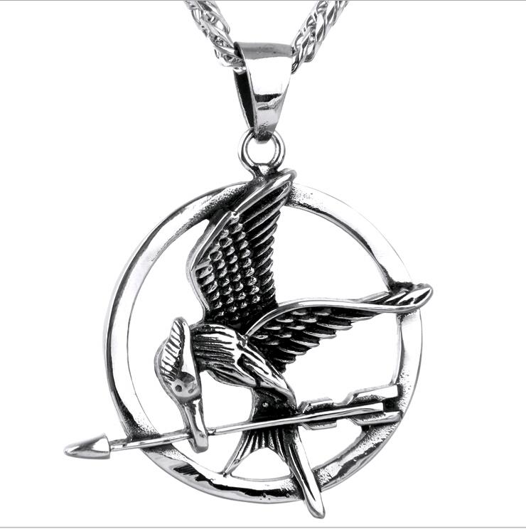 Dynion mwclis jewelry dur di staen Ewropeaidd ac Americanaidd Ms fflam dur titaniwm ffilm The Pendant