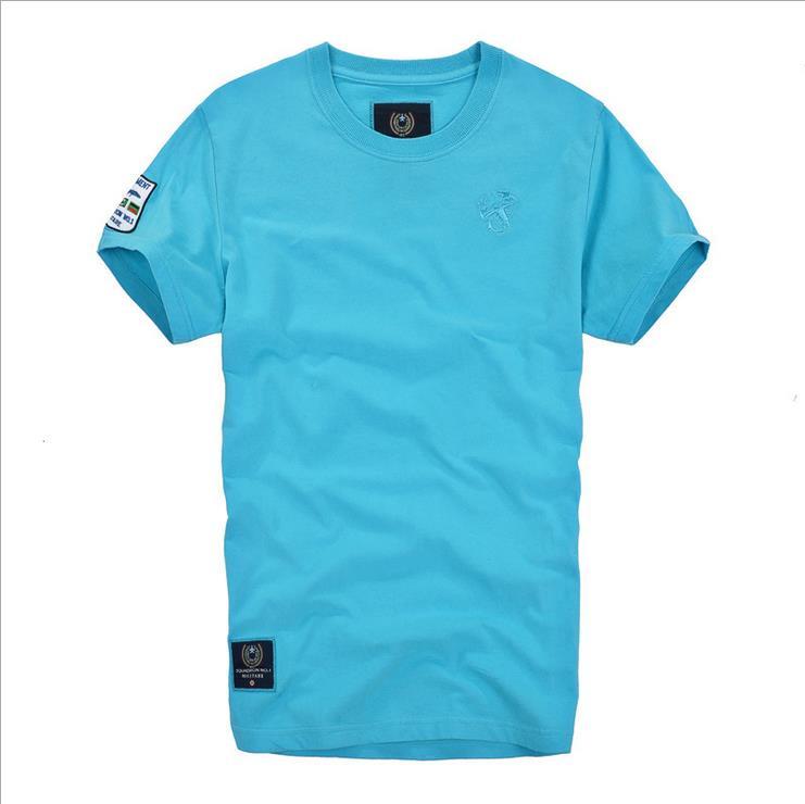 2015 Summer Style T-shirt Men short sleeve t shirt fashion Solid Print Men t-shirt cotton Casual T-shirt Man Clothing(China (Mainland))