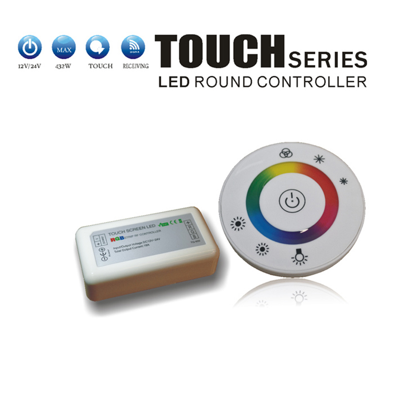 Touch RGB controller DC12V 24V 18A Wireless LED Controller RF Touch Panel LED Dimmer RGB Remote Controller(China (Mainland))