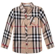 New 2016 Spring&Autumn Fashion Children Shirts boys plaid Long sleeve shirts kids boys tops shirts High-Quality