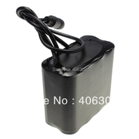High Powerful 8.4V Max 12000mAh 8x18650 Battery pack For 8.4V LED Bicycle Light With Pouch+ Free shipping