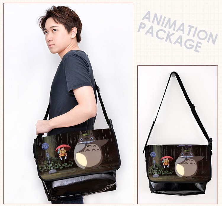 Anime Totoro Cartoon Fashion Cosplay Laptop Computer Bag Casual Messenger Bags Shoulder Bag Free Shipping