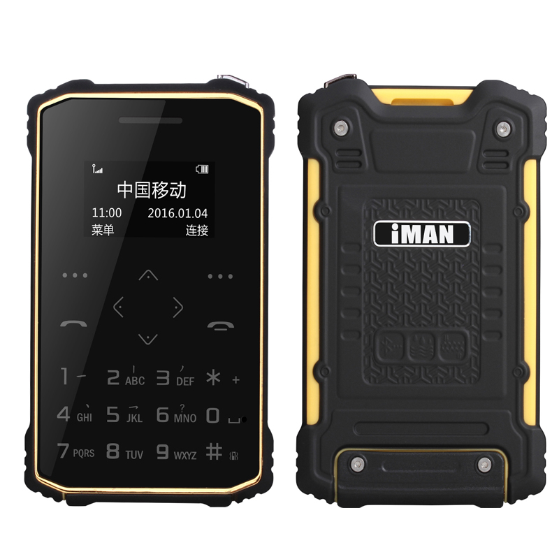 ip67 Rugged Waterproof Credit Card phone Min Protable ultra Slim Shockproof Phone S1 GSM old man mobile cell phones aiek x6 M5(China (Mainland))
