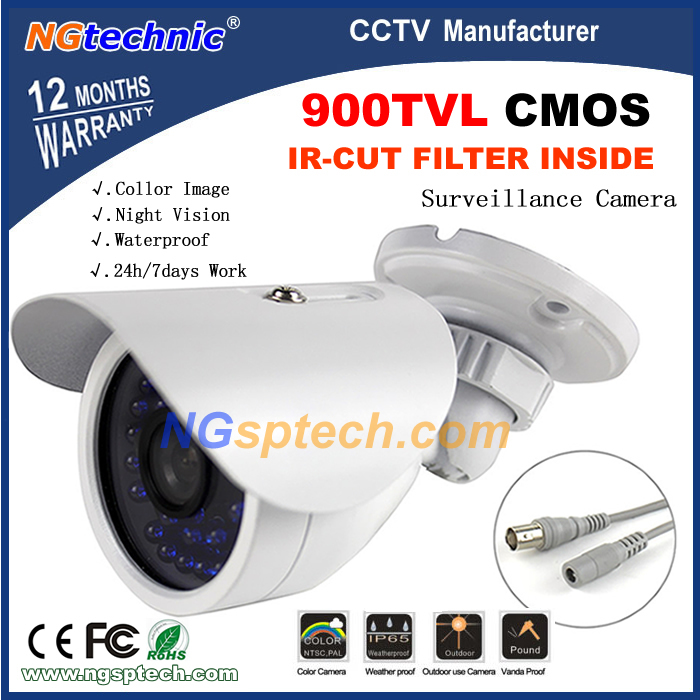 NEW Arrival CMOS  Waterproof/Weatherproof 900tvl CCTV Camera With IR-CUT Filter Switch Color Image Housing Surveillance Camera<br><br>Aliexpress