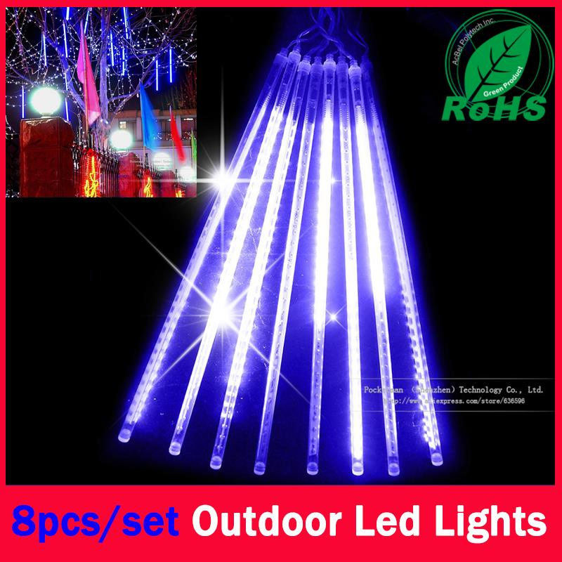 60% Christmas Leds 8 Pcs in a Set Meteor Shower Rain Tubes Lights Led Lamp 100-240V Outdoor Holiday Light New Year Decoration(China (Mainland))