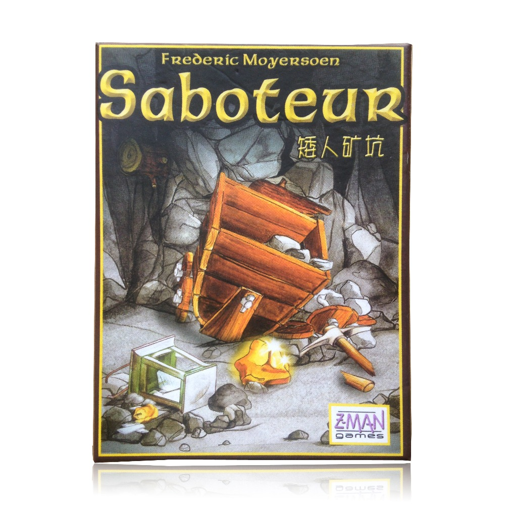 hot sale multiple language rules saboteur 1/ saboteur 2 expansion/VIP pack/simple pack, cards game table game, board game(China (Mainland))