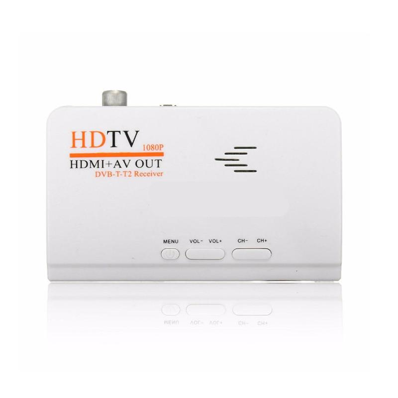 Newest 1080P HDMI DVB-T/DVB-T2 TV tuner Receiver DVB T/T2 HDTV box AV CVBS Satellite TV Receiver for pc LCD/CRT monitors DVBT2(China (Mainland))