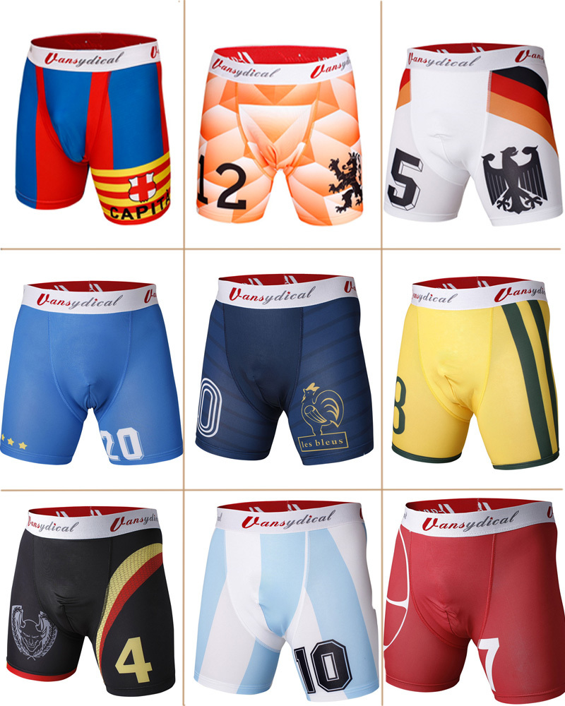 2015 Compression Armour Base men's Boxer football Shorts soccer classics print breathable male under tight underwear plus size(China (Mainland))