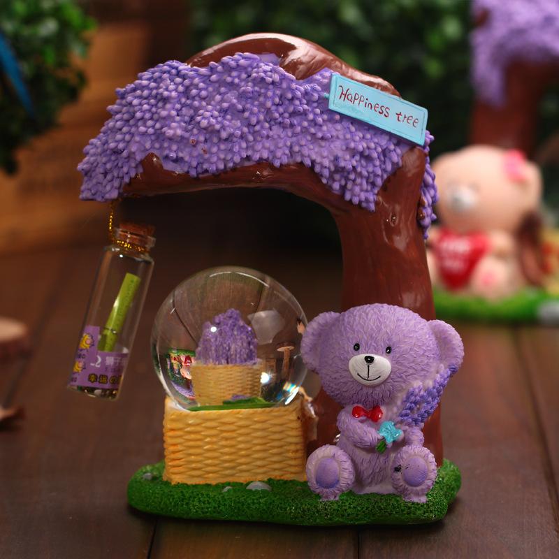 Purple-Bear-tree-resin-ornaments-Wedding-decorations-gift-ideas-flash ...