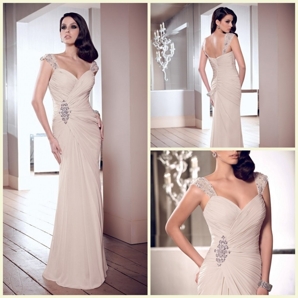 Evening Gowns 2013 Bodycon Chiffon Women Long Beaded Dresses Formal Elegant Mermaid Party Dress - Jaina private custom wedding dress shop store