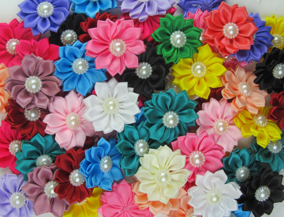 1New design Mixed Ribbon headwear flower Clothes accessory DIY Craft - L & D Crafts Firm store