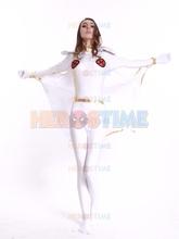 X-men costume White Storm Woman Superhero Costume spandex halloween cosplay Storm Woman zentai suit  hot sale
