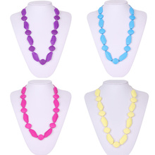 Fashion Mommy Jewelry 2016 New Arrival Silicone Teething Necklace BPA Free FDA Approved Food-Grade Silicone Nursing Necklace(China (Mainland))