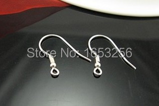 Jewelry Finding 300x Surgical Stainless Steel Ear Wires Hooks ~with Bead + Coil Earring Findings(China (Mainland))