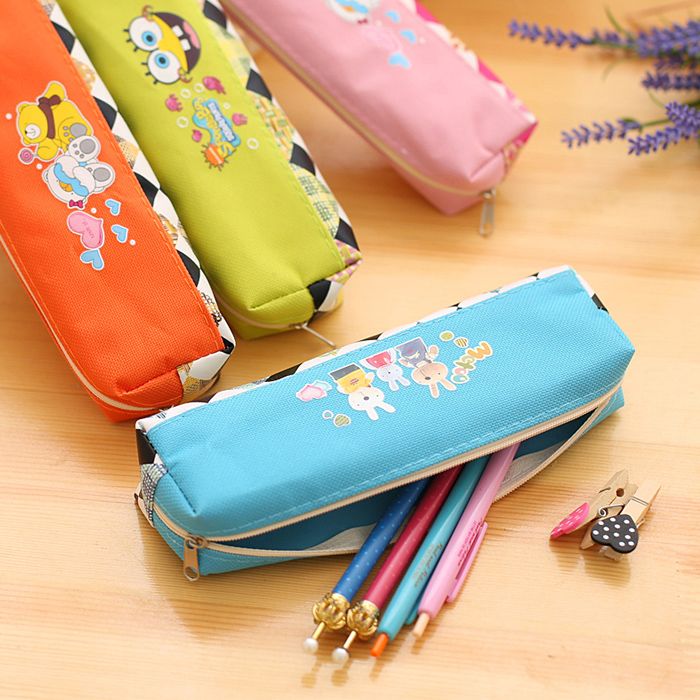 2Pcs Cute Cartoon Pen Pencil Case Bag Pouch Purse Bag School Supply Office Accessories(China (Mainland))