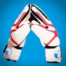 Free Shipping Original Brand goalkeeper Gloves Latex palm Soccer/Football bola de futebol Goalkeeper Gloves #8.9.10(China (Mainland))