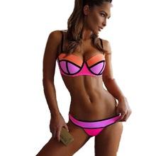 Frete Grátis Nova Moda Verão Sexy Mulheres Bola Bandage Bikini Set Push-up acolchoado Bra Swimsuit Swimwear alta qualidade BK207 / BK91