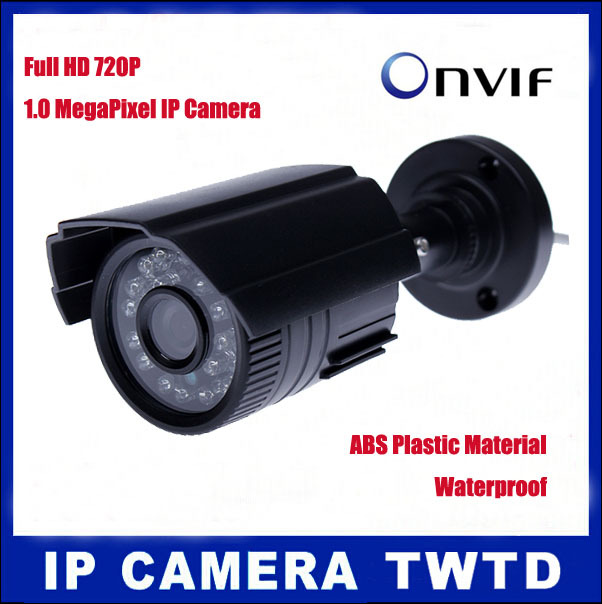 1280*720P IP Camera 1.0MP Bullet Outdoor Security ONVIF 2.0 Waterproof Night Vision P2P IP Cam IR Cut Filter H.264cctv Network(China (Mainland))