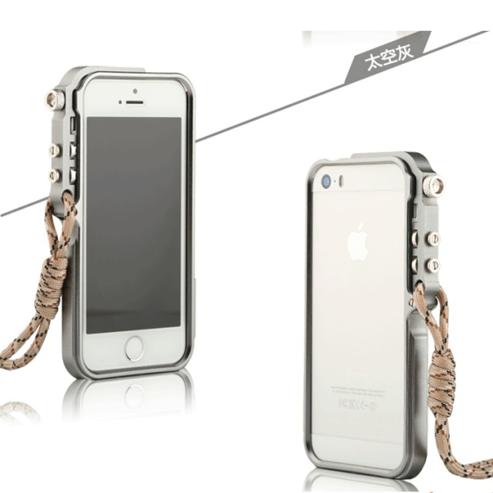 High Quality Aluminum Cool Trigger Style Case Frame For Apple iPhone 6 6s 4.7″ With Straps Hard Metal Guard Impact Bumper Cases