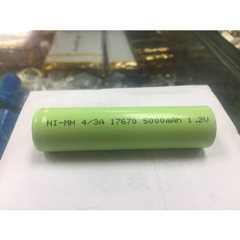 10Pcs Ni MH rechargeable battery 4/3A 17670 4500mAh 1.2V medical device processing battery pack(China (Mainland))