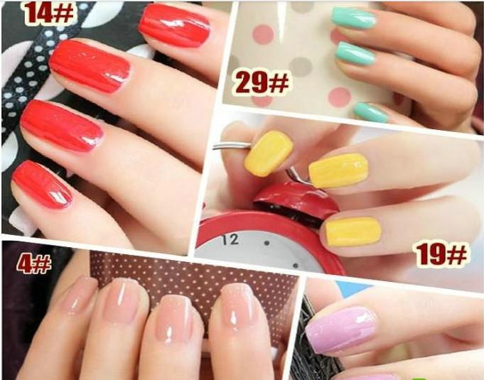 free shipping 10pcs/lot Nail art supplies bk nail polish oil quick-drying candy color eco-friendly nail polish oil 2(China (Mainland))