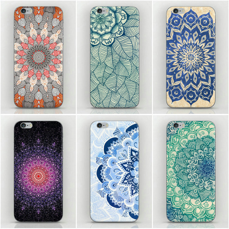 1 Piece Mandala Porcelain Flower Style Hard PC Back Cover Housing iPhone 5s 5g Case Factory Price 5 - Dream Hero Shop store