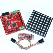 Free shipping Full color RGB 8 * 8 60m LED dot matrix screen driver board(China (Mainland))