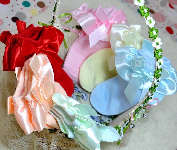 Сбывание фабрики 100pairs/lot лук стиль принцессы танцующие носки балета носки для девочек балет шланг