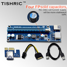 Buy 10pcsTISHRIC VER006C Blue 60cm PCI-E PCE Express Riser Card 1X 16X Extender USB3.0 Cable SATA 6Pin IDE Power BTC Miner for $50.61 in AliExpress store
