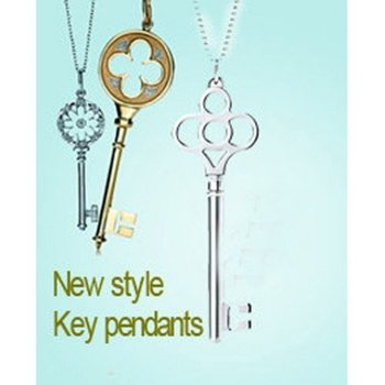 Free shipping! New key pendant 5pcs 925 sterling silver necklace with original packing!